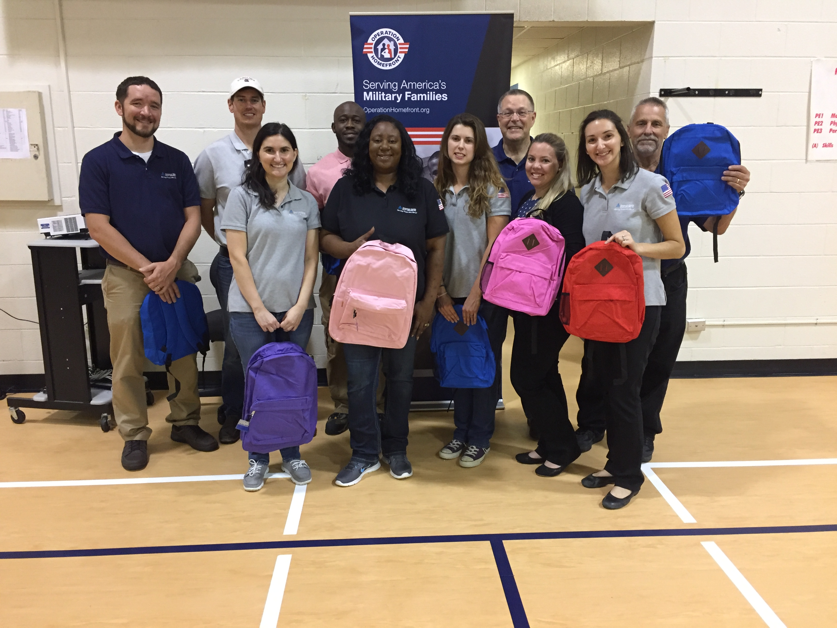 ASUS employees take part in Operation Homefront's Back-to-School Brigade